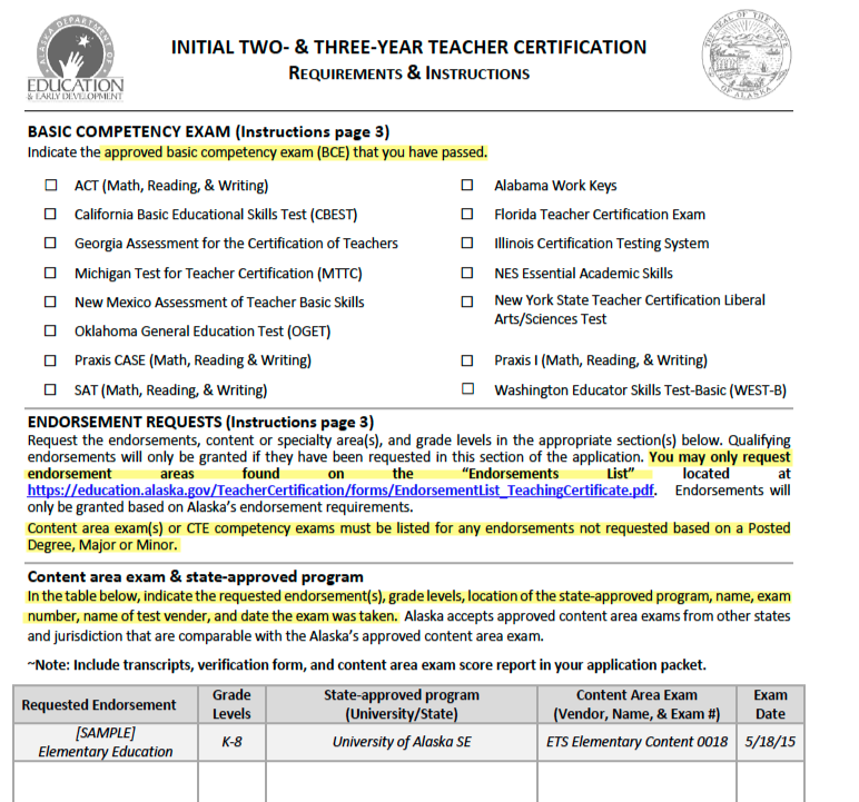 alaska teacher placement: getting certified