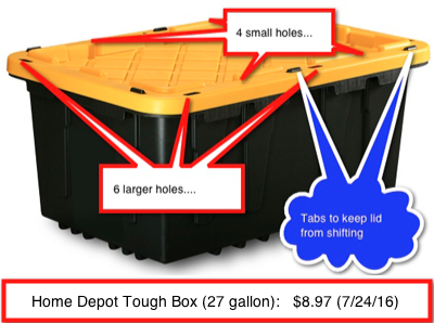 Home Depot Tough Box - The stack AND zip tie